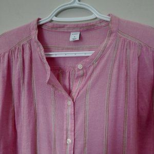 Women's Old Navy Pink Blouse Sz M